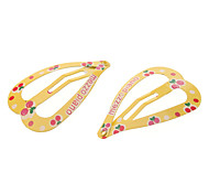 Dual Cherry Pattern Yellow Hair Clips for Pets