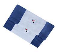 Algodão e Proteção Terylene Kneelet Engrosse respirável quente Elastic Branco e Azul (1 par, 29.5x12.5cm)