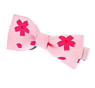 Flower Pattern Mini Bow Tie Hair Clip for Pets(Assorted Colors)