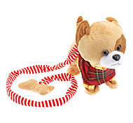 Walk the Dog Singing and Barking Shaking Tail Puppy Plush Toy (3xAA, Yellow)