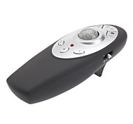 Multimedia Email Internet Desktop Red Laser Wireless Presenter with Trackball Mouse (2xAAA)