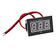 "V40D Waterproof 0.56"" LED 3-Digital Direct-Current Voltmeter (Black + White, DC 15~120V)"