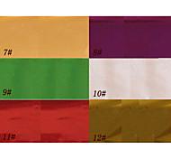 1pcs decorazioni del chiodo della stagnola laser brillavano adesivi stellato n.7-12 (130x4.5x0.1cm, colori assortiti)