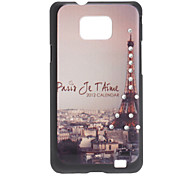 Torre Eiffel Caso Patrón duro para Samsung I9100 Galaxy S2