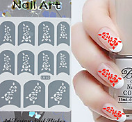 3PCS Mixed-style Paper Nail Art Image Stamp Stickers LK Series No.13
