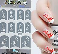 3PCS misto estilo de papel Nail Art Imagem selo adesivos LK Série No.13