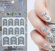 3PCS Mixed-style Paper Nail Art Image Stamp Stickers LK Series No.12