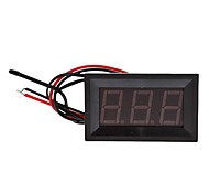 "T27 0.56 ""LED de 3-dígitos corriente directa Termómetro con Fine Tuning (Negro, DC 4.5 ~ 28V)"