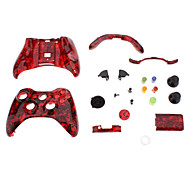 Replacement Controller Case Shell for XBOX 360 (Red Ghost Head)