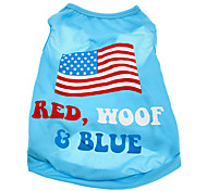 American Flag Pattern Terylene Vest for Dogs (XS-L)