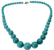 Tower-shaped Turquoise Necklace