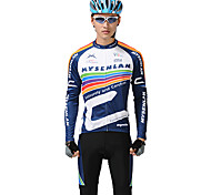 MYSENLAN PN Mesh+Flex Material Long Sleeve Breathable Men Cycling Suits