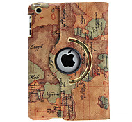 Exquisite Map Design Rotatable PU Leather Case w/ Stand for iPad mini 3, iPad mini 2, iPad mini