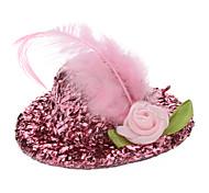 Animali Lampeggiante Lady Rose Hairpin Style Billycock per Cani Gatti (colori assortiti)