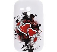 Elegant Heart-Shaped and Flower Pattern TPU Soft Case for Samsung Galaxy S3 Mini I8910