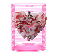 "5"" Sakura Style Pencil Vase Analog Alarm Clock (1xButton Battery)"