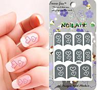 3PCS Mixed-style Paper Nail Art Image Stamp Stickers LK Series No.17