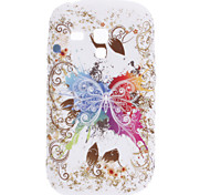 Butterfly Pattern Soft Case para Samsung Galaxy S3 Mini I8910