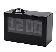 Digital Alarm Clock Calendar Time Projector (Black, 3xAAA)
