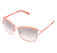 LANGTEMENG Coffee Resin Lens Orange Frame Sunglasses