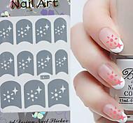 3PCS Mixed-style Paper Nail Art Image Stamp Stickers LK Series No.6