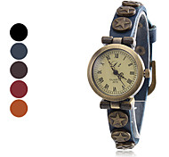 Women's Fashionable Style Analog Leather Quartz Wrist Watch (Assorted Colors)