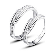 Pretty 925 Sterling Silver Couples Rings