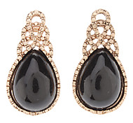 Water-Drop Gemstone Earring