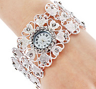 Women's Quartz Alloy Analog Bracelet Watch (Silver)