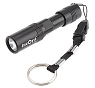 LED Flashlights/Torch / Handheld Flashlights/Torch LED 1 Mode 200 Lumens Waterproof AAA Everyday Use - Others , Black Aluminum alloy
