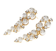 Bar-type Pearl Alloy Earring