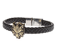 Men's Fashion Wolf Magnetic Buckle Woven Bracelets