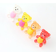 Baby Bear Plastic Anti-Dust Earphone Jack (Ramdon Color)