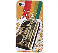 Retro Style Recorder Pattern Protective Hard Case for iPhone 4/4S