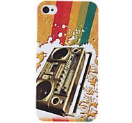 Retro Style Recorder Muster schützende Hülle für das iPhone 4/4S