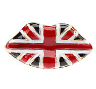 Punk vent Drapeau Lips Pattern Double Ring