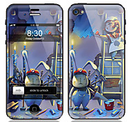 Cartoon Pattern Front and Back Screen Protector Film for iPhone 4/4S
