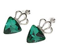 Green Crown Jewel Earrings