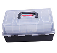 Portable Double-Layer Lure Box Tackle Box (30*18*15cm)