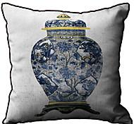 Vaso padrão da cópia do Linho fronha decorativa