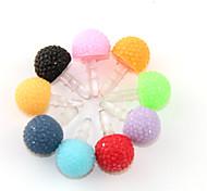 Pure Color Mushroom estilo anti-polvo de Gato del auricular (colores surtidos)