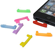 3.5mm One-piece Pattern Anti-dust Earphone Jack for iPhone5(Random Colors)