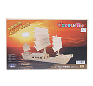 Sail Boat DIY Wooden 3D Puzzle Jigsaw (Model:G-P045)