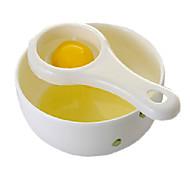 yema de huevo y huevo separador blanco