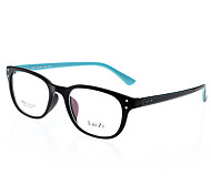 LAI ZI Unisex Transparent Lens Black & Blue Frame Optical Glasses