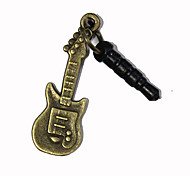 3.5mm Bronce Guitar patrón anti-polvo para auriculares Jack