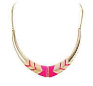 Foldable Golden Plated Crescent shaped Alloy Necklace (Assorted Colors)