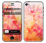 Petal Pattern Front and Back Full Body Protector Stickers for iPhone 5