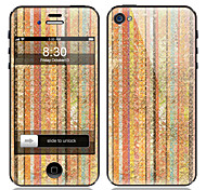 Stripe Painting Design Front and Back Screen Protector Film for iPhone 4/4S