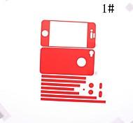 Bunte Dull polnischen Front-und Back-Schirm-Schutz für iPhone 4/4S (verschiedene Farben)